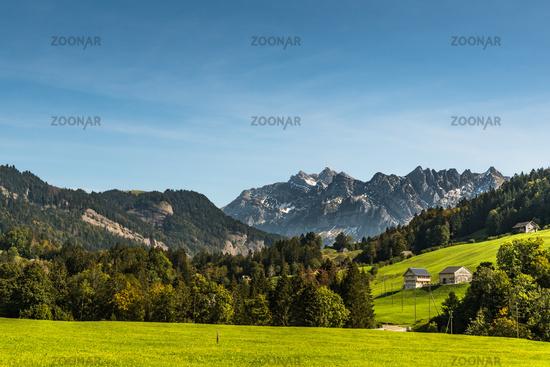 Alpstein massif and Saentis, Toggenburg, Canton St. Gallen, Switzerland