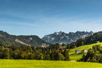 Alpstein massif and Saentis, Toggenburg, Canton St. Gallen, Switzerland