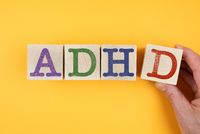 letters ADHD on wooden blocks