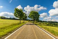 Road in Hegau near Watterdingen, Baden-Wuerttemberg, Germany