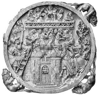14th century, storming of Minneburg Castle