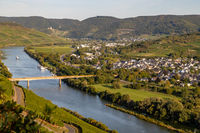 View of the Moselle valley at Brauneberg
