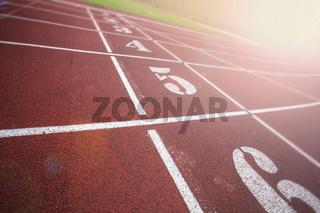 Stadium running tracks
