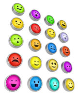 Emotion Buttons Metal