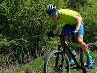 Mountainbiker on sprint