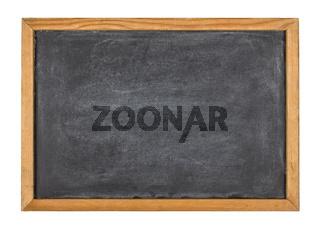 Empty blackboard with a wooden frame