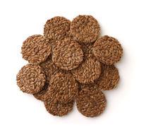 Organic flax seeds crispbread