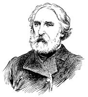 Portrait of Ivan Sergeyevich Turgenev - a Russian novelist, short story writer, poet, playwright.