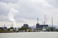 Steel harbour at the Danube river, Linz, Upper Austria, Austria, Europe