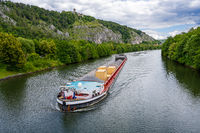 Barge on the river Altmuhel