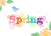 Spring Themed Seasonal Graphic