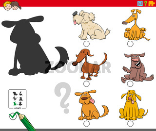 shadows game with comic dog characters