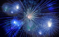 Red and Blue Firework star beautiful festival