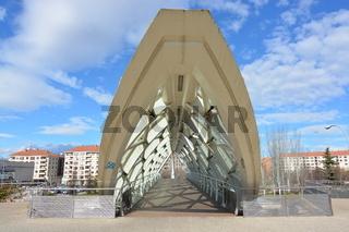 Pasarela y puente peatonal cubierta