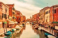 Murano island at sunset, Venice, Italy