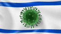 Coronavirus Model on the background of Israeli flag.