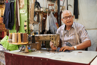 Jerusalem Israel. A tailor in the jewish quarter