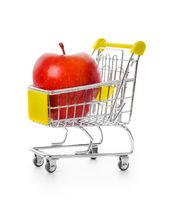 Apple in shopping cart