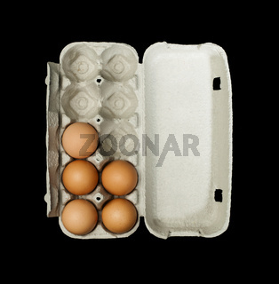 Eggs box and aggs inside