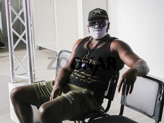 US-amerikanischer Schwergewichts-Boxer  Kevin Johnson vor SES Boxing Gala am 22.08.2020 in Magdeburg