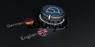Translator Rotary Knob English German