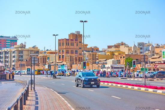 Street in Deira district in Dubai
