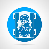 Round blue vector icon for newborn