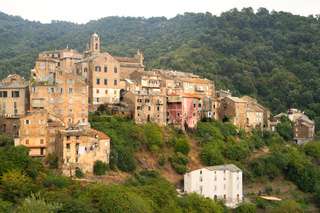 Casinca village at French Corse