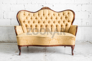 Brown Retro Sofa