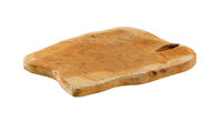 Wooden cutting board with natural edge