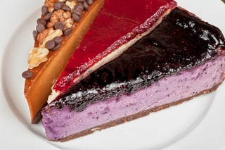 cheesecake with chocolate and nuts