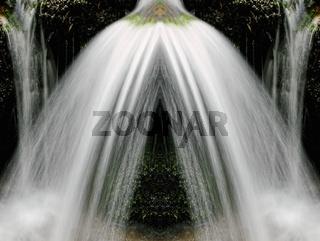 geteilter Strahl am Wasserfall