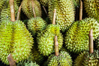 Pile of ripe durian