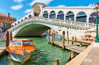 Grand Canal iand Rialto Bridge in Venice