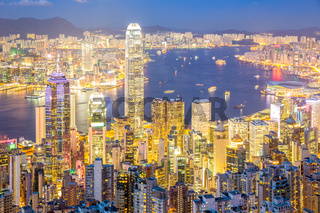 Aerial Hong Kong Skyline