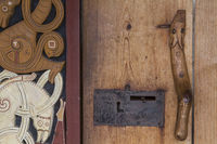 Detail of a historic wooden door