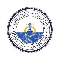 City of Orlando, Florida vector stamp