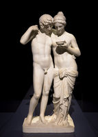 Cupid and Psyche (Amore e Psiche) by Bertel Thorvaldsen. Symbol of eternal love, 1861.