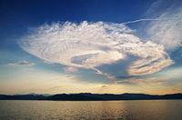 Cumulonimbus cloud off the Ligurian coast