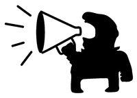 Loud Speaker Man Symbol
