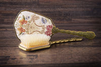 decorative hair brush and hand mirror
