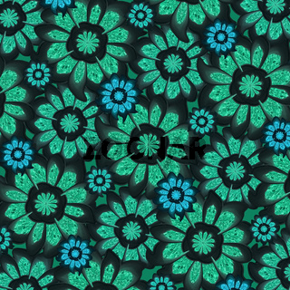 Feminine Dark Tones Flowers Pattern