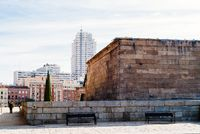 Temple of Debod in Madrid a beautiful Autumn day