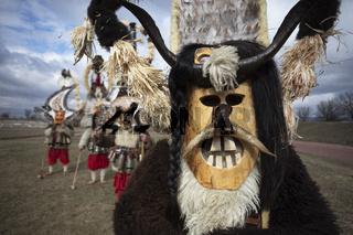 Masquerade festival in Elin Pelin, Bulgaria. Culture, indigenous.