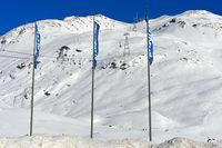 Mount Piz Lagalb, skiing area Diavolezza-Lagalb, Pontresina, Val Bernina, Grisons, Switzerland