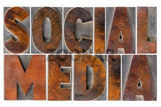 social media in wood type