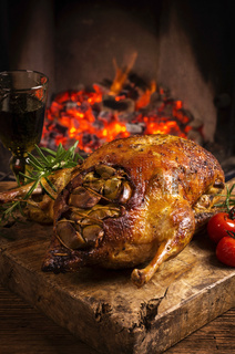duck roasted with vegetables