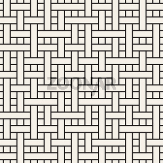 Vector seamless geometric pattern. Stylish abstract background. Repeating interwoven lines design.
