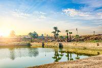 Sacred lake in Karnak Temple