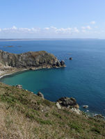 coastal landscape at Nez de Jobourg, La hague, normandy